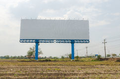 Blank big sign near highway with dry country Stock Photos