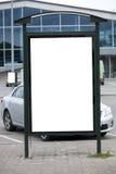 Blank bilboard stand Stock Image