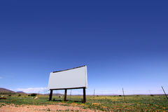 Blank bill board Stock Image