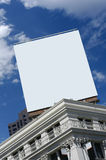 Blank billboard. Large blank billboard on top of city building stock photography