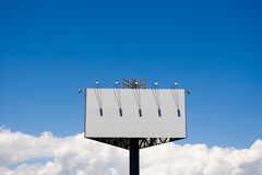 Blank billboard. Blank billboard and sky Stock Photos