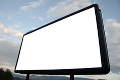 Blank billboard. Photo of a blank billboard with sky. Just add your advertisement Stock Photos