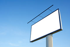 Blank Billboard. With a blue sky background Stock Photography