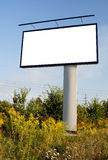 Blank billboard. In the middle of the country to write a message Royalty Free Stock Photo