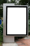 Blank billboard. Display at sidewalk with clipping path for your advertising stock photography