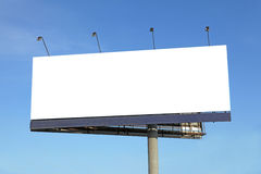 Blank billboard. Blank big billboard on blue sky royalty free stock photos