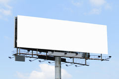 Blank billboard. A blank billboard with a blue sky stock image