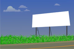 Blank billboard Royalty Free Stock Image