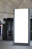 Blank billboard. In airport - space for your ads (path included royalty free stock photo