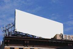 Blank Billboard. Above a building Stock Image