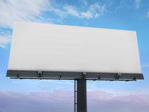 Blank billboard. 3d blank billboard ready to fill with a clear sky behind royalty free stock photography