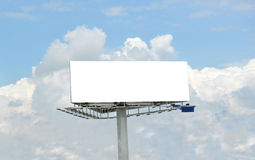 Blank billboard. And rolling clouds Royalty Free Stock Photos
