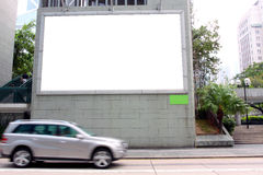 Blank Billboard. On Building in Hong Kong Stock Image