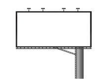 Blank Billboard. Ad advert advertise advertisement advertising Stock Image