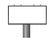 Blank Billboard. Ad advert advertise advertisement advertising announcement Royalty Free Stock Photography