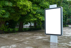Blank billboard. Vertical blank billboard on the city street royalty free stock photos
