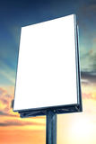 Blank billboard. Against sunset sky, for more billboard visit our portfolio royalty free stock photography