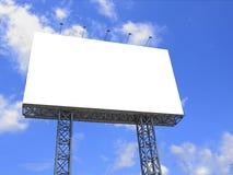 Blank billboard. On blue sky stock image