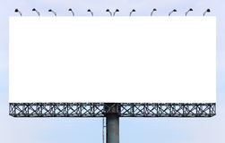 Blank Billboard. Ready for new advertisement stock photography