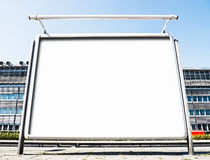 Blank billboard. At a station in berlin - nice background with space for text Royalty Free Stock Images