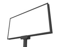 Blank Billboard. Large blank, empty, white billboard screen, isolated on white background, for your advertisement and design Stock Photography