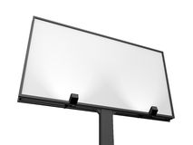 Blank Billboard. Large blank, empty, white billboard screen, isolated on white background, for your advertisement and design Royalty Free Stock Images