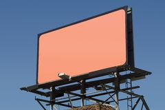 Blank Billboard 3. Fill in this blank billboard with your own message royalty free stock photo