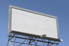 Blank Billboard. Fill in this blank billboard with your own message royalty free stock photo