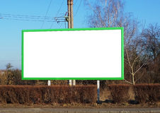 Blank billboard. Oblong blank billboard for your visualization Royalty Free Stock Images