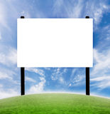 Blank billboard. Clean blank white billboard advertisement with white space for customization royalty free illustration