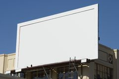 Blank Billboard 4. Fill in this blank billboard with your own message royalty free stock image