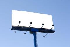 Blank billboard. Against blue sky Stock Photo