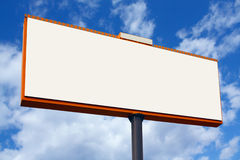 Blank billboard. On sky background stock image