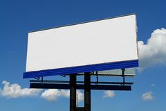 Blank Billboard. With Blue Sky Behind stock images