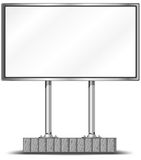 Blank billboard stock illustration