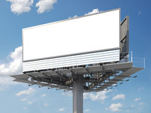 Blank billboard. Big empty billboard ready for your image or text royalty free stock image