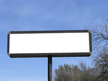 Blank billboard. Blank billboard  under blue sky Royalty Free Stock Photography