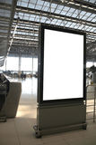 Blank billboard. In airport - space for your ads stock images