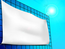 Blank billboard ad on the building Stock Image