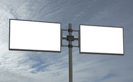 Blank billboard, add your message royalty free stock photography