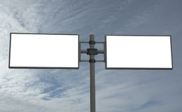 Blank billboard, add your message Royalty Free Stock Images