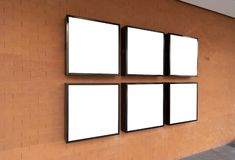 Blank billboard ads signage for Mockup Design Advertise Board.  royalty free stock photography
