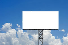 Blank billboard for advertisement. With beautiful sky background Royalty Free Stock Images