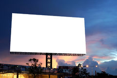 Blank billboard for advertisement Stock Images