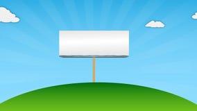 Blank billboard for advertisement stock footage