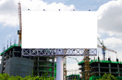 Blank billboard for advertisement on the construction site Royalty Free Stock Image