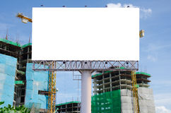 Blank billboard for advertisement on the construction site Stock Photo