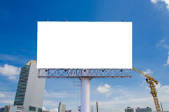 Blank billboard for advertisement on the construction site Royalty Free Stock Photo