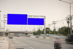 Blank billboard for advertisement at countryside. Blank billboard,billboard blank for outdoor Royalty Free Stock Images