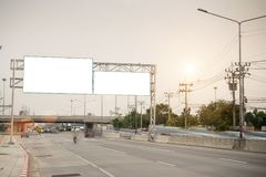Blank billboard for advertisement at countryside. Blank billboard,billboard blank for outdoor Royalty Free Stock Image